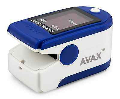 AVAX 50DL - Finger Pulse Oximeter - %SpO2 (Blood Oxygen Saturation) & Heart Rate