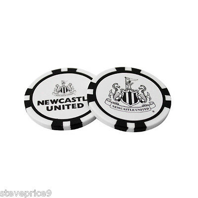 Newcastle United Fc 2 Poker Chip Golf Ball Markers In Gift Set