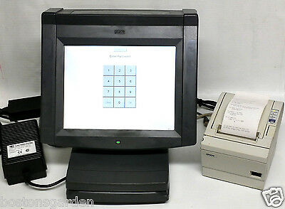 "PAR Restaurant POS Terminal 12"" Point of Sale Touch Screen System& Epson Printer"