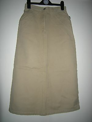 Bnwot Girls Quality Tex Sand Straight Jeans Style Skirt Size 152 - 12 Yrs