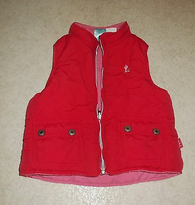 Pumpkin Patch Age 4 Years Pink Padded Bodywarmer / Gilet Reversible!