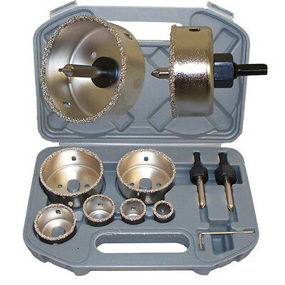 """8 PC Tungsten Carbide Hole Saw Cutter Tile Marble Glass 7/8 to 2-7/8"""""""