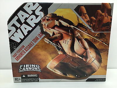 STAR WARS 2006 NEW TRADE FEDERATION ARMORED ASSAULT TANK AAT DROID 30th ANNV TAC