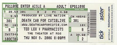 Rare DEATH CAB FOR CUTIE 11/9/06 New York City NY MSG Concert Ticket! NYC