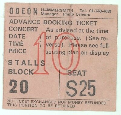 RARE Thin Lizzy 7/11/76 London England Hammersmith Odeon Concert Ticket Stub!