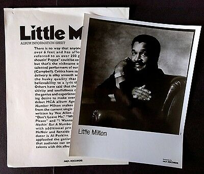 RARE Little Milton Press Kit for Age Ain't Nothin But A Number! Photo N29