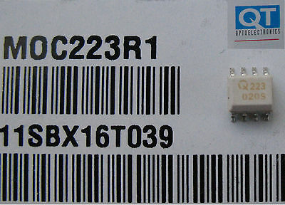 Qt Moc223R1 Optocoupler Photodarlington Output (10 Pcs)