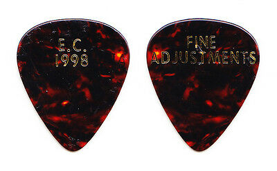 Eric Clapton Fine Adjustments Concert-Used Brown Guitar Pick - 1998 Tour