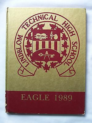 1989 Lindblom Technical High School Yearbook Chicago, Illinois  Eagle Unmarked!