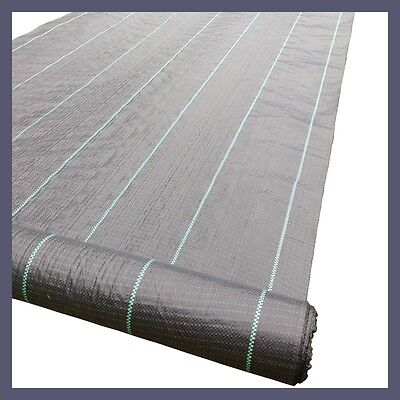 2m x 60m Weedmat Weed Control Mat 100gsm PP Woven Fabric (6 x 10m Packs)