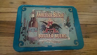 Anheuser Busch Bottled Beers 2 Playing Card Decks In Tin Budweiser