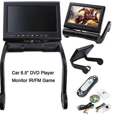 "8.5"" LCD Screen In Car Armrest Monitor Video DVD/USB/TF Player IR/FM Game Travel"