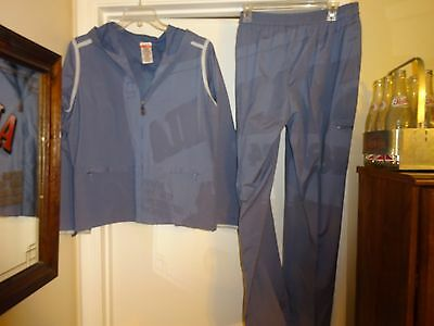 DANSKIN NOW Women's 2 Pc Warm-up Work-out/Jogging Suit Sz XL Off Blue L@@K