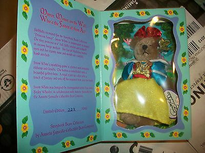 Disney SNOW WHITE Annette Funicello Mohair Bear Story Book Collection HTF