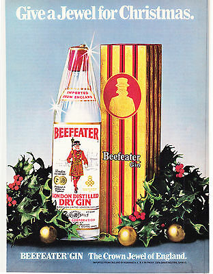 Original Print Ad-1979 Give a Jewel For Christmas.  BEEFEATER GIN-in Gift Box