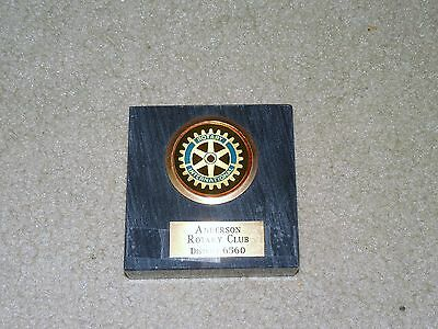 Anderson Rotary Club International Paper Weight District 6560