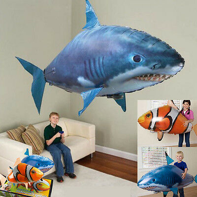 Air Swimmer Remote Control RC Flying Inflatable Fish Shark Blimp Balloon Child A