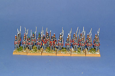 15mm Napoleonic painted British Line Infantry .Blue Facings BR01