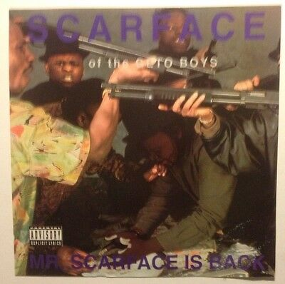 """Scarface Of The Geto Boys...Advertising Poster Printed On One Sides, 12"""" X 12""""."""