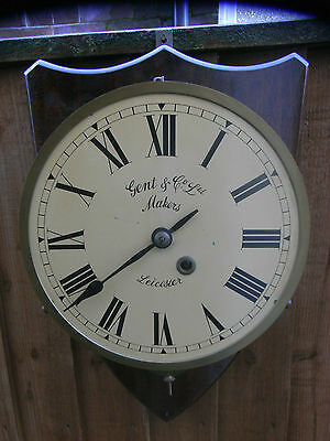 19th Century 8-Day Fusee Movement Wall Clock / Leicester