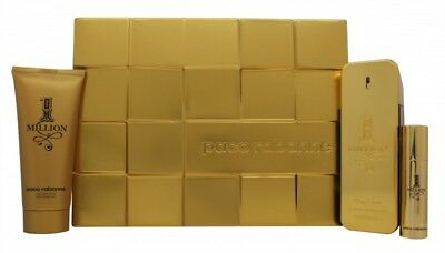 Paco Rabanne 1 Million Gift Set 100Ml Edt + 10Ml Edt + 100Ml Shower Gel - Men's