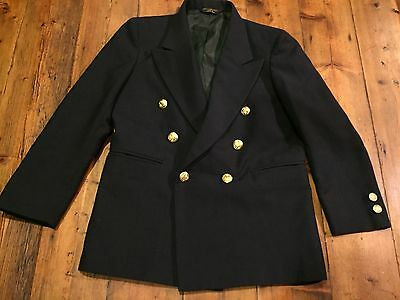 LORD & TAYLOR Boy's Navy Blue Double Breasted Blazer- Size 10- Retails $90