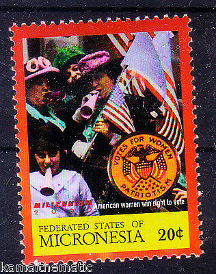 Micronesia MNH, American Women Win Right to Vote, Music, Flags