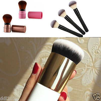 Kabuki Soft Face Flat Foundation Brush Blush Powder Contour Makeup Brushes Tools