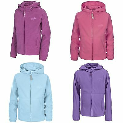Trespass Childrens Girls Snozzle Hooded Microfleece Jacket Breathable