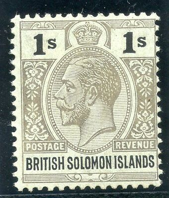 Solomon Islands 1923 KGV 1s black/blue-green (olive back) superb MNH. SG 33a.