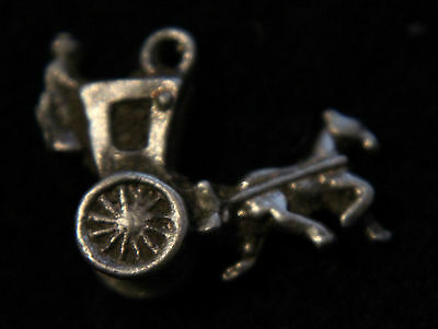 Late  Roman Silver pendnat-Chariot and Horse 300-400 AD.