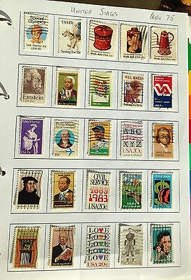 USA  25 Commemorative used Stamps page 75
