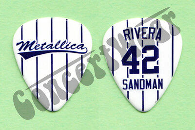 Metallica James Hetfield Mariano Rivera #42 Sandman Guitar Pick NY Yankees 2013
