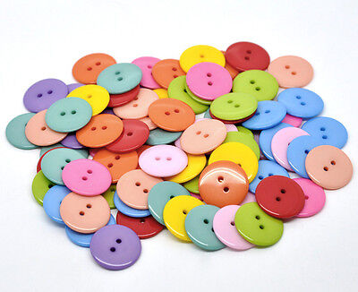 25 Colourful Mixed Resin  Buttons 23mm Sewing, Crafts Scrap book Button art