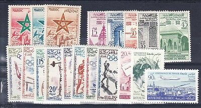 Morocco - group of mint NH sets (Catalog Value $18.65)
