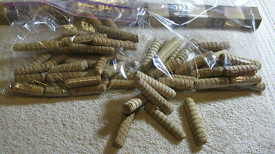 """Lot of 50 New, Unused 3/8"""" Birch/Maple Wooden Dowels (INV 6995)"""
