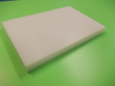 25mm White HDPE 500 grade Sheet 200mm x 100mm eng plate food grade cutting board
