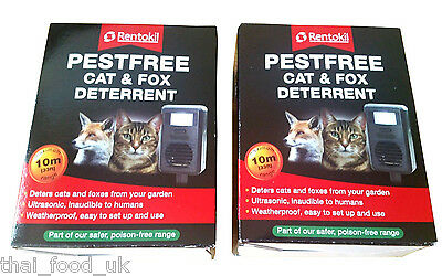 2 x RENTOKIL PEST FREE ULTRASONIC CAT AND FOX DETERRENTS