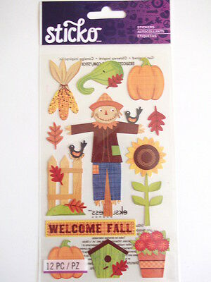Sticko Stickers - Welcome Fall - Autumn scarecrow