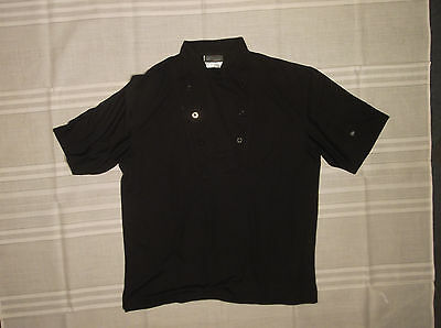 Cook Cool By Happy Chef Shirt Men's Black L Short Sleeve 100% Polyester Cookcool