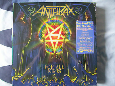 Anthrax For All Kings Limited Edition Box Set New&sealed Picture Disc 2Cd & More
