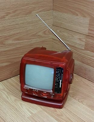 "Unbranded/Generic 5"" Black & White Red Analog TV With Radio (1503) **READ**"