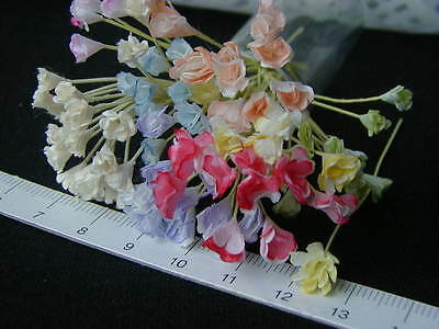 20 Miniature Tiny Mulberry flower Doll House in Assorted colours Mix Lot #21