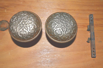 Antique Vintage Brass Door Knob Set