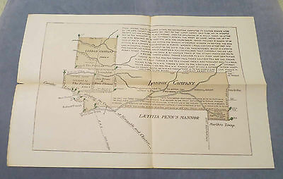 1736 CHESTER COUNTY PA CORRECTION MAP OF LONDON CO.  PA ARCHIVES SERIES ngm