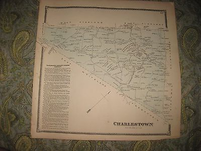 Antique 1873 Charlestown Township Pickering Chester County Pennsylvania Map Rare
