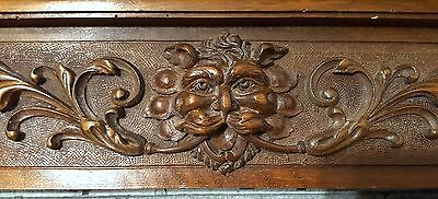PEDIMENT GRIFFIN LION ANTIQUE FRENCH CARVED WOOD CHATEAU IMPROVEMENT 19th 38 in