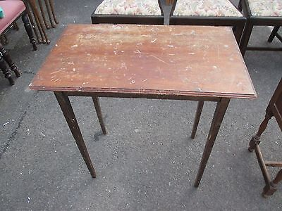 Mahogany Coloured Side End Hall Table Tapered Legs May Deliver