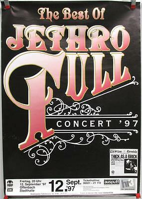 Best of Jethro Tull Concert 1997 Germany Original Lithograph Promo Poster Sheet