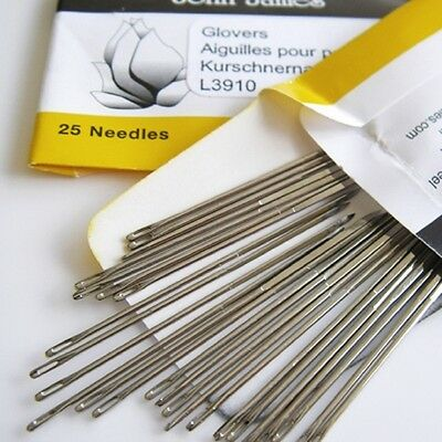 Glovers Needles Size 10 - 25 needles per package Leather work Needles fnt